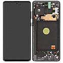 Genuine Samsung Galaxy Note 10 Lite (N770F) lcd Screen in silver - Part no: GH82-22055B