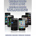 General mobile Phone Unlocking and Repair A3 Poster Red Light Grey to white