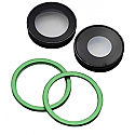 Iphone 11 Rear Camera Lenses With Brackets - Green - OEM