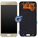 Genuine Samsung Galaxy A7 (2017) A720 Lcd and touchpad in Gold -  P/N: GH97-19723B