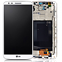 Genuine LG G3 (D855) Complete lcd with digitizer and frame assembly in White - LG Part code: ACQ87190301