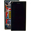 Genuine Sony Z5 Compact Complete lcd with frame and touchpad in Black - Part number 1297-3728