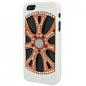 iPhone 5 Diamonte Alloy Wheel with White Tyres and Gold Pearl - Rim in Gold, Silver & Red (minimum order 2 pcs)