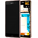 Sony Xperia Z3 (D6603) Complete lcd with touchpad and frame and Front Assy in Copper - Sony part number: 1290-6076
