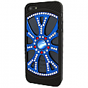 iPhone 5 Diamonte Alloy Wheel with Black Tyres and Blue Pearl - Rim in Blue, Silver & Red (minimum order 2 pcs)