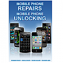 General mobile Phone Unlocking and Repair A3 Poster Blue
