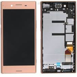 Genuine Sony Xperia XZ Premium (Dual Sim, G8142) Lcd with touchpad and frame in Pink - P/N: 1307-9888