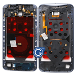 Motorola Nexus 6 Centre Bezel Frame Housing with Parts in Midnight Blue