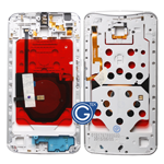 Motorola Nexus 6 Centre Bezel Frame Housing with Parts in White