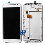 Motorola Moto G (2016) XT1622, G4 Complete LCD and Digitizer Assembly with Frame in White