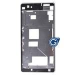 Sony Xperia Z1 Compact, Xperia Z1 Mini, D5503 LCD Frame /  Front Cover in White