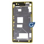 Sony Xperia Z1 Compact, Xperia Z1 Mini, D5503 LCD Frame /  Front Cover in Yellow