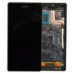 Genuine Sony Xperia Z2 (D6503) Complete Lcd with Digitizer and Frame in Black- Sony part no: 1281-8358 (Grade B)
