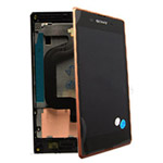 Sony D2202 Xperia E3 Front Cover with touchscreen and LCD display  COPPER- Sony part no: A/8CS-59080-0006
