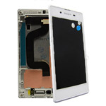 Sony D2202 Xperia E3 Front Cover with touchscreen and LCD display  White- Sony part no: A/8CS-59080-0002