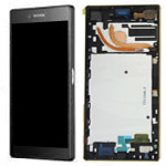 Sony Xperia Z5 Premium (E6853) Complete Front with Touchscreen in Black-Sony part no:1299-0613