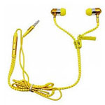Zipper Earphones in Yellow